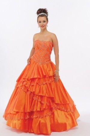 Robe de mariage couleur orange